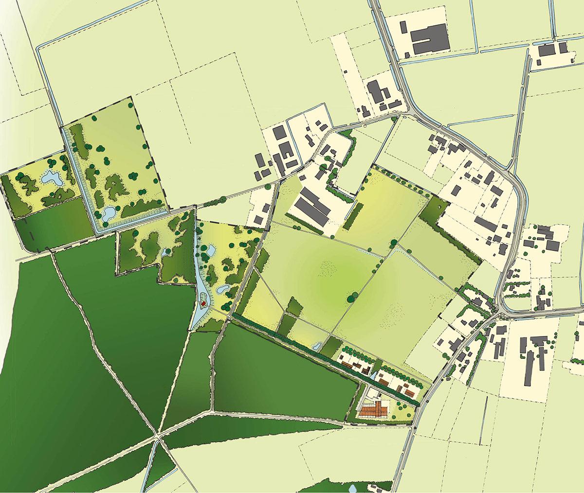 SAB Nieuw landgoed Nabbegat masterplan