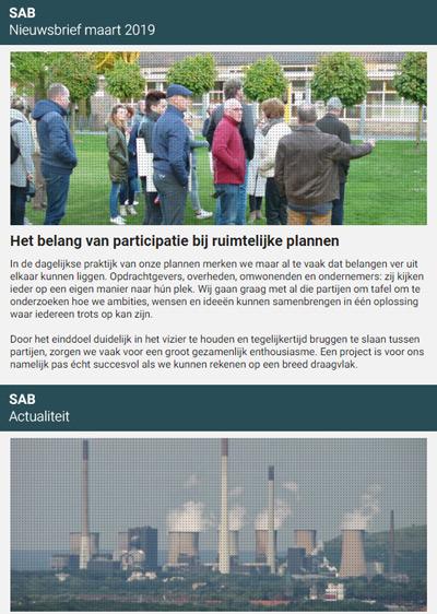 """Nieuwsbrief """"Het belang van participatie in ruimtelijke plannen"""""""