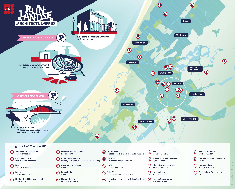 Dorpsplein Noordwijkerhout genomineerd voor de Rijnlandse Architectuur Prijs 2019